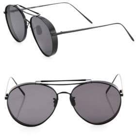 Gentle Monster Big Bully 55MM Rounded Aviator Sunglasses