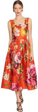Dolce & Gabbana Roses Printed Satin Organza Dress