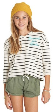 Billabong Girl's Almost There Waffle Knit Hoodie
