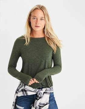 American Eagle Outfitters AE Soft & Sexy Long-Sleeve Favorite T-Shirt