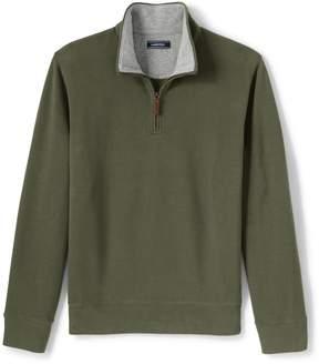 Lands' End Lands'end Men's Bedford Rib Quarter Zip Sweater