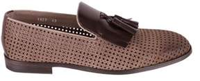 Doucal's Men's Brown Leather Loafers.