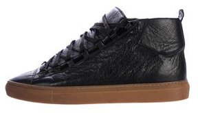 Balenciaga Leather Arena Sneakers
