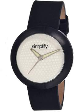 Simplify The 1200 Leather-band Watch.
