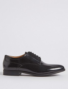 Marks and Spencer Leather Tramline Lace-up Shoes with AirflexTM
