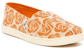 Toms Alpargata Rose Burlap Slip-On (Little Kid & Big Kid)