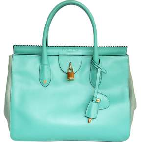 Rochas Turquoise Leather Bag