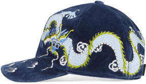 Velvet hat with dragon