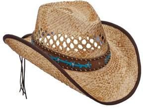 Scala Women's LR693 Pinch Cowboy Hat with Overlay