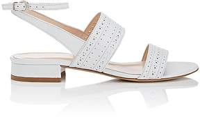 Barneys New York Women's Perforated Leather Double-Band Sandals