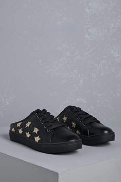 Forever 21 Star Cutout Low-Top Slip Ons