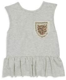 Imoga Toddler's, Little Girl's& Girl's Sparkle Pocket Ruffle Dress