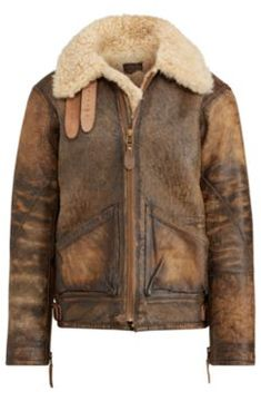 Ralph Lauren The Iconic Bomber Jacket Brown Earth/Light Amber L