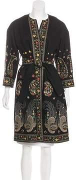 Christian Lacroix Embellished Knee-Length Coat