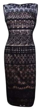Vince Camuto Women's Geometric Lace Dress (2, Black)