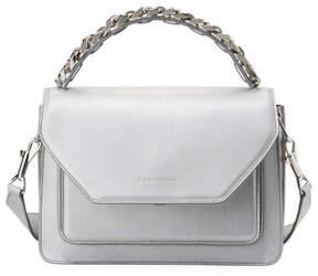 Elena Ghisellini Eclipse Medium Silver Madras Top Handle Bag