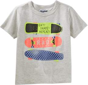 Osh Kosh Oshkosh Bgosh Boys 4-8 Skate Boards Eat, Skate, Repeat Graphic Tee