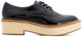 Emporio Armani lace-up block sole shoes