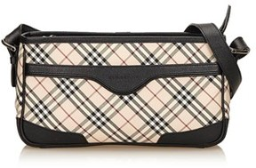 Burberry Pre-owned: Plaid Jacquard Shoulder Bag. - BLACK X MULTI - STYLE