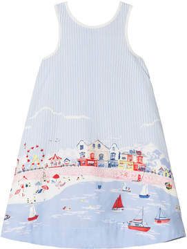 Joules Blue Seaside Print Dress