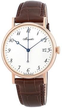 Breguet Classique Automatic White Dial Brown Leather Men's Watch