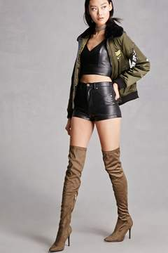 Forever 21 Faux Suede Over-the-Knee Boots