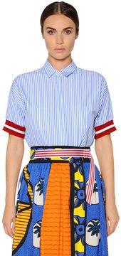 Stella Jean Striped Cotton Poplin Shirt