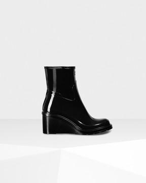 Hunter Women's Original Refined Wedge-sole Boots