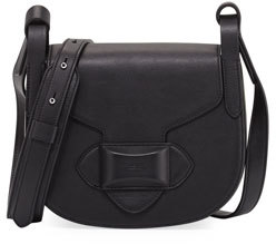 Michael Kors Daria Small Leather Crossbody Bag, Black - BLACK - STYLE