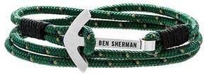 Ben Sherman Men's Anchor Braided Cord Bracelet