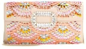 Roger Vivier Evening Envelope embellished satin clutch
