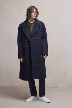 French Connection Cabafeltro Wool Melton Long Coat
