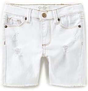 Jessica Simpson Little Girls 2T-6X Destructed Bermuda Shorts
