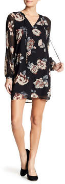 Collective Concepts Pleated Sleeve Floral Shift Dress