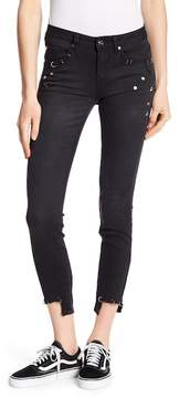 Dex Metal Studded Cropped Slim Jeans