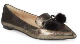 Karl Lagerfeld Metallic Leather Loafers