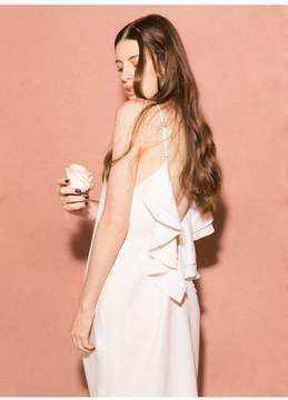 Fleur Du Mal Ruffle Back Dress