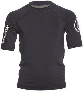 Volcom Boy's Lido Solid Short Sleeve Rashguard (820) - 8158760