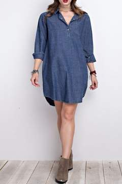 Easel Denim Shirt Dress