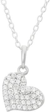 Junior Jewels Kids' Sterling Silver Cubic Zirconia Heart Pendant