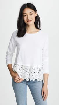 Generation Love Elena Sweatshirt with Eyelet Trim