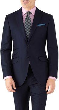 Charles Tyrwhitt Navy Slim Fit Italian Twill Luxury Suit Wool Jacket Size 42