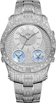 JBW Jet Setter III Stainless Steel 1.18 C.T.W Diamond Accent Mens Silver Tone Bracelet Watch-J6348b