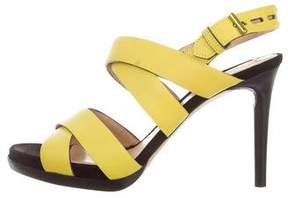 Reed Krakoff Leather Multistrap Sandals