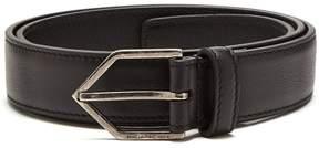 Saint Laurent Triangle-buckle skinny leather belt