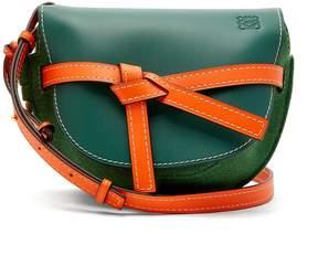 Loewe Gate small leather and felt cross-body bag