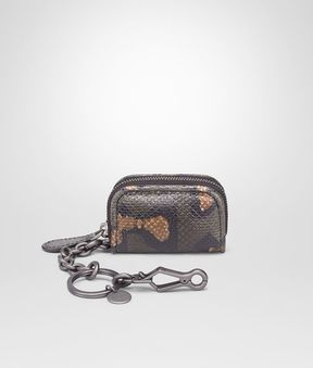Bottega Veneta Intense Moss Karung Key Ring