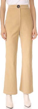Awake Crop Wide Leg Turn Up Pants
