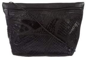 Carlos Falchi Snakeskin & Leather Shoulder Bag