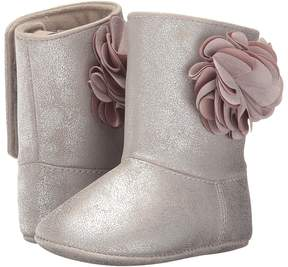 Baby Deer Soft Sole Shimmer Boot with Flower Girl's Shoes